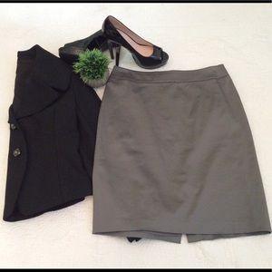 Ann Taylor Grey Pencil Skirt